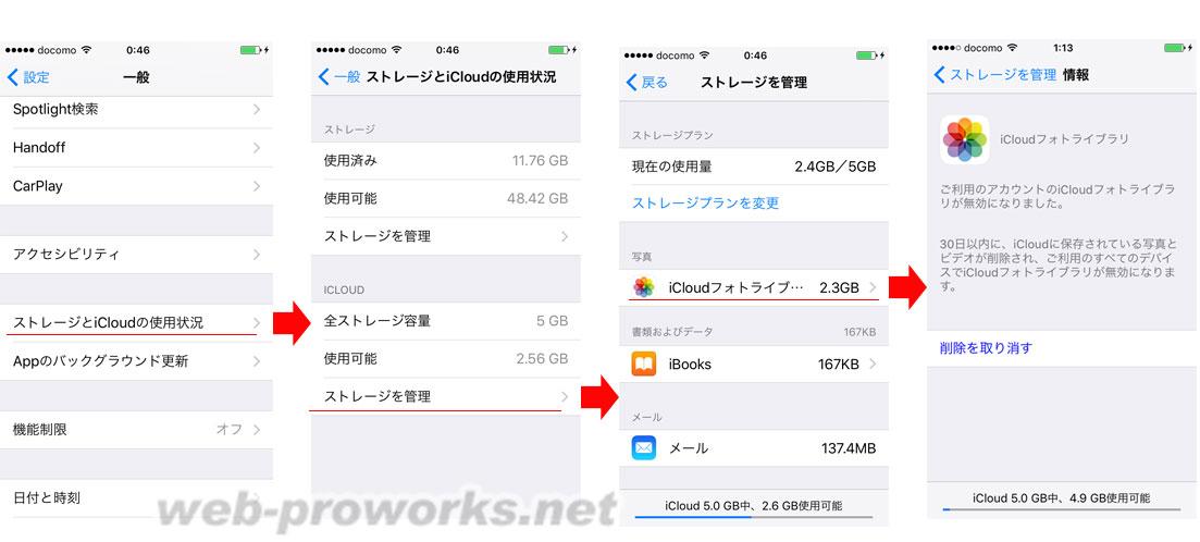 iCloudフォトライブラリを削除