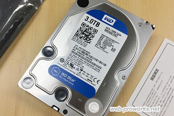 新品のHDD